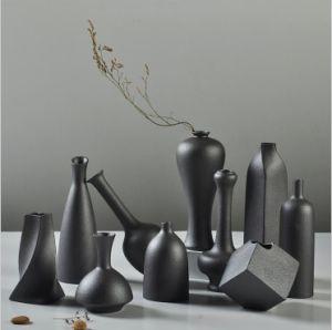 Ceramic Black Vase Household Adornment Furnishing Articles