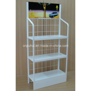 3 Tier Metal Shelf Floor Standing Engine Oil Display Stand (PHY3005) pictures & photos