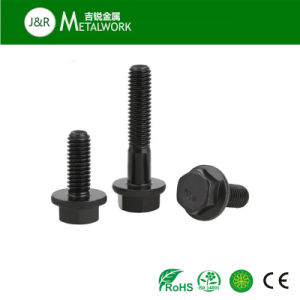 Black Oxide Dacromet Grade 8.8 Grade 10.9 Flange Bolt (DIN6921) pictures & photos