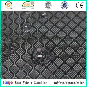 100% Polyester PU Coated 400d Jacquard Grid Fabric for Backpack pictures & photos