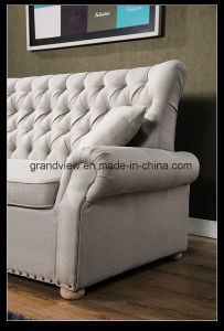 2018 New Chesterfield Fabric Sofa Sofa Couch Antique Beige Color pictures & photos