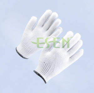 10 Gauge Industrial Thin Cotton Yarn Gloves, Cotton Yarn Knitted Glove pictures & photos