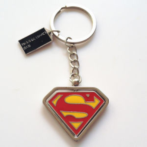 Commerce Advertising Gift Marvel Metal Keychain Triangle Shape Rotating Superman Keyrings