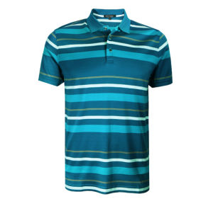 Custom Fashion Wholesale Price Cotton Polyester Men′s Striped Polo Shirts pictures & photos