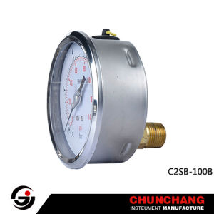 Back Connection Stainless Steel Pressure Gauge