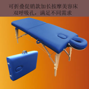 Classic Portable Massage Table\Beauty Bed with Adjustable Headrest pictures & photos