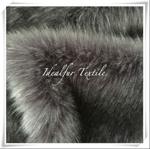 Silver Fox Faux Fur with Long Pile pictures & photos