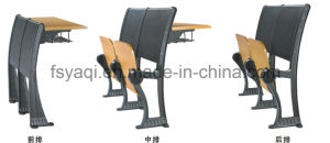 Good Quality Aluminium School Desk with Folded Seat (YA-010B) pictures & photos