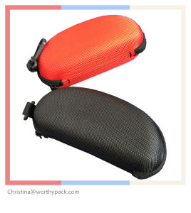 EVA Protective Sunglasses Case with Zipper and Febric Exterior