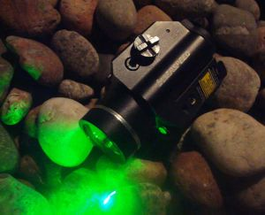 Rail-Mounted Green Laser Sight LED Weapons Light Combo (XL-2LLG-SPX)