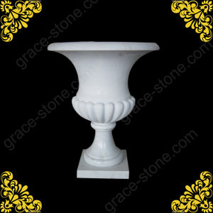 Marble Hand Carved Flower Pot for Garden Decoration pictures & photos