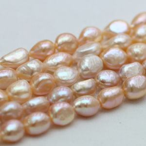 10-11mm Pink Baroque Natural Freshwater Nugget Pearl Strands, E190013 pictures & photos