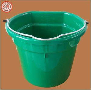 Flat Back Plastic Feed Bucket Plastic Tub And Trough 5 Gallon