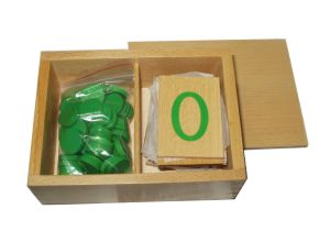 China Wooden Toys Montessori Materials Number Cards And Counters