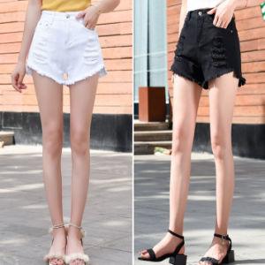 c85f9c7eef Summer Denim Shorts Women Fashion Tassel Slim MID Waist Shorts Brand  Quality Vintage Black White Hole Plus Size Used Short Denim Girl Jeans Lady  Sport ...