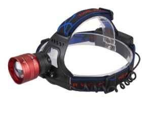 Rechargeable Aluminum High Power Zoom Function CREE Xm-L T6 Headlight