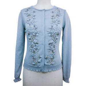 7e9a4c914 China Embroidery Knitted Long Sleeve Cardigan Sweater for Ladies ...