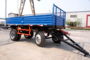 8 Tons -Double Axles-Four Wheels Farm Trailers pictures & photos