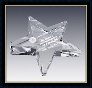 Crystal Glass Star Shape Paperweights pictures & photos