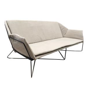 Modern Retro Metal Base Frame Sofa