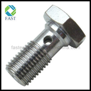 Zinc Plated Carbon Steel Hollow Banjo Bolt for Hydraulic Cylinder