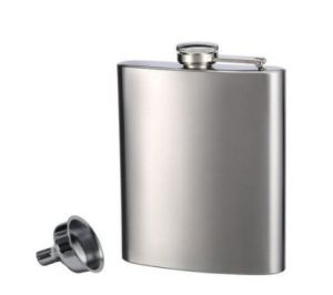 8 Oz Portable Stainless Steel Hip Flask & Diminutive Funnel Set