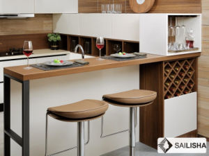 Modern Home Hotel Furniture Island Wood Kitchen Cabinet pictures & photos