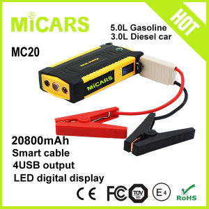 Power Tools Booster Portable Car Auto Battery Jump Starter for 3.5L Diesel and 6L Gasoline