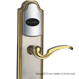 Zinc Alloy Hotel Smart Door Lock with RF Card (DeHaZ1012-EL-NI) pictures & photos
