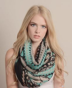 Different Colors Available Digital Print Custom Design Sheer Chiffon Viscose Cotton Scarf