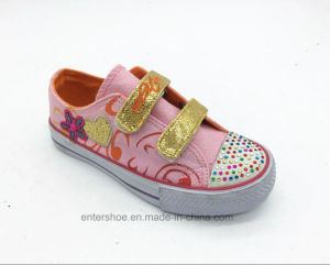 Beautiful Rubber Kids Shoes with Crystals Toe (ET-LH160290K)