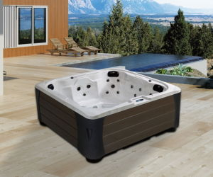 Freestanding Square Shape Hydro Massage SPA Whirlpool Outdoor Leisure Hot Tub (M-3383) pictures & photos
