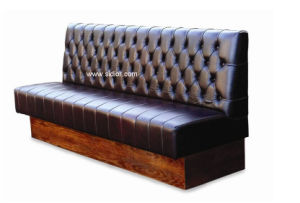 (SD-4004) Chesterfield Restaurant Furniture Wooden Leather Sofa Booth