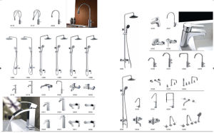 Contemporary Kitchen Faucet with Chrome Finish (LT-008)