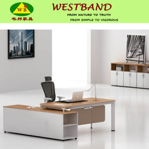 High-End Alloy Wooden Office Manager Table (WB-Tomah)