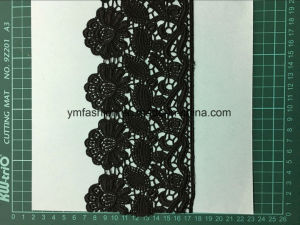 Black Color High Quality Polyester Lace Ym-Hb118 pictures & photos