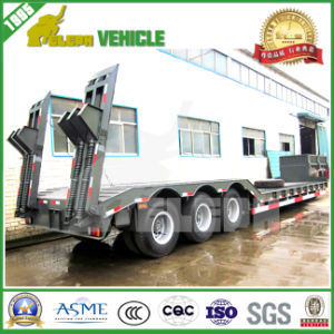 Tri-Axle 60 Tons Low Bed Extendable Trailer
