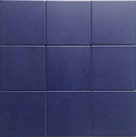 China 4x4 Quot Matt Blue Glazed Porcelain Floor And Wall Tile