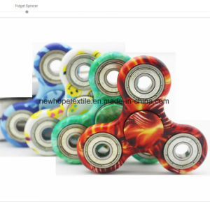 1 Side Zebra Custom Print Fidget Metal Spinner Hand Spinner Finger Spinner Toys Fight EDC Tri Digit Aluminum Brass Gyro Spinner