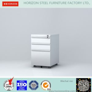 Steel Mobile Filing Cabinet Office Furniture with Replaceable Cam Lock and 5 Wheels/Mobile Pedestal