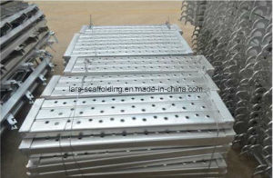 Q235 Material Construction Scaffolding Steel Plank/Board with Hook