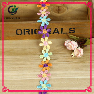 Free Sample Decorative Colorful Poly Lace Trim for Clothing pictures & photos