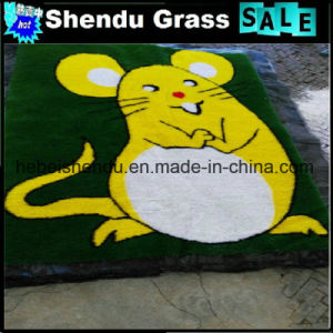 Cute 1m Size 20mm Height Carton Artificial Grass Mat pictures & photos