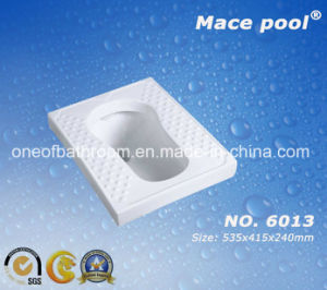 Massage Foot Place Ceramic Squatting Pan (6013) pictures & photos