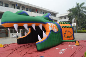 Hot Sale Inflatable Alligator Blast Tunnel for Sports pictures & photos
