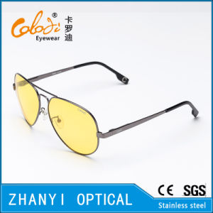 Fashion Colorful Metal Sunglasses for Driving with Polaroid Lense (3025-C3)