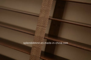 Basswood Ladder Tape Venetian Blinds (SGD-W-5052) pictures & photos