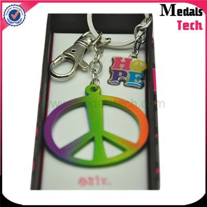 Custom Colorful Hollow out Car Key Chain with Box