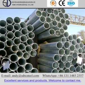 Round Pre Galvanized Steel Pipe pictures & photos