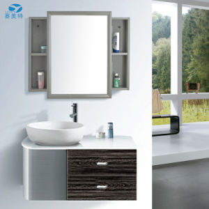 High Quality Sliding Door Stainless Steel Hotel Bathroom Cabinet Vanity pictures & photos